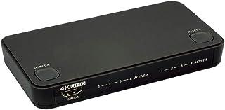 ラトックシステム 4K60Hz対応 4入力2出力 HDMIマトリックススイッチ ブラック RS-HDSW42-4K