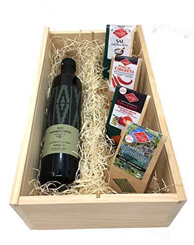 Mallorca Starter Box mit hochwertigem Olivenöl mediterranen Kräutermix Geschenkeset Geschenkbox Mittelmeerprodukte