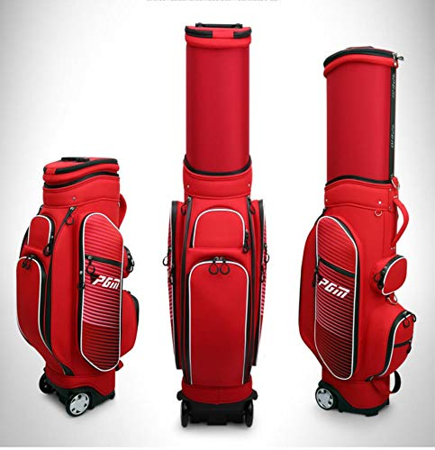 Amazing Deal Leaysoo Golf Telescopic Bag Ms. Tug Airline Bag Waterproof,Red