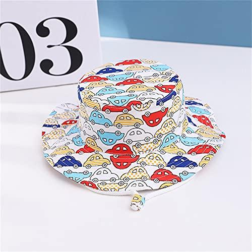 Sombrero para niños Gorra con Estampado de Verano para niños y niñas Gorros para el Sol para niños Sombreros para bebés de Dibujos Animados de 6 Meses a 8 años-Color car-2-50cm 1-3 Years