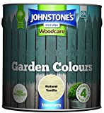 Johnstone's 309293 - Garden Colours - Exterior Paint - Fade Resisting - Suitable for Exterior Wood - Natural Vanilla - 2.5 L