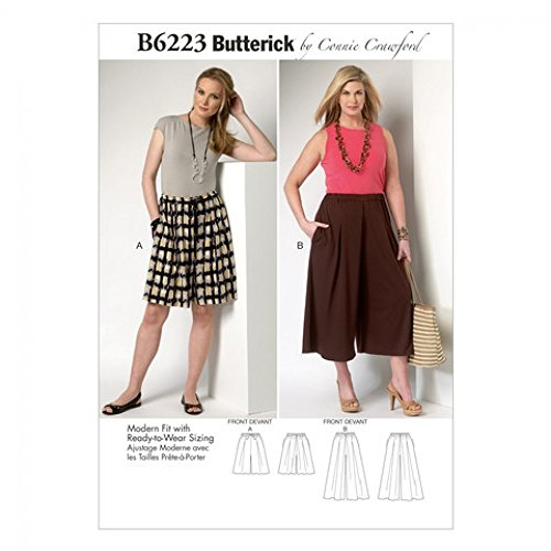 BUTTERICK Ladies Plus Size Sewing Pattern 6223 Culottes