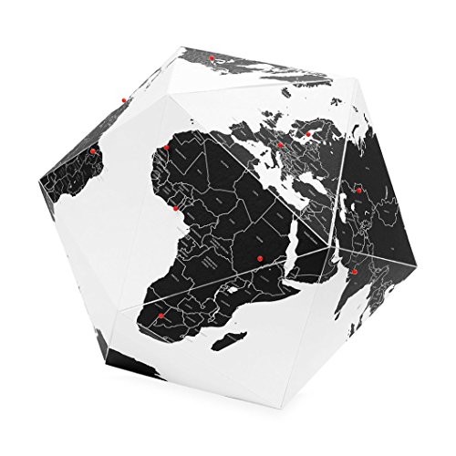 Here – The Personal Globe By Countries Black (Medium) – Palomar; HEC-M
