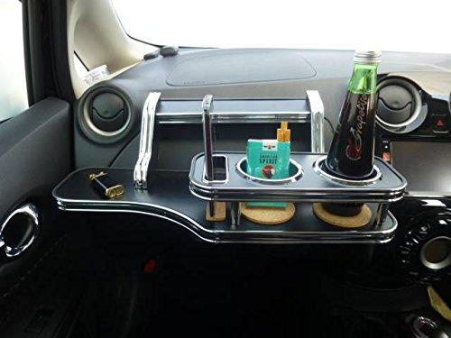 数量限定 E12系ノート フロントテーブル レザーブラック 携帯ホルダー助手席側 ブラックフルメッキ