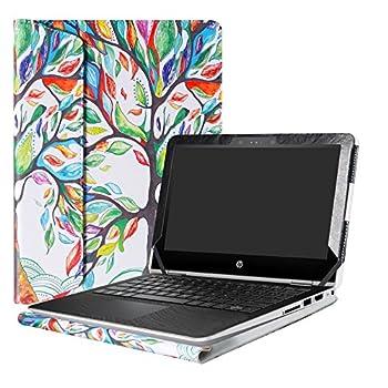 Alapmk Protective Case Cover for 11.6  HP Pavilion x360 11 11M-adXXX 11-adXXX 11M-AD013DX Series Laptop Warning Not fit Pavilion x360 11 11-kXXX 11-uXXX 11-nXXX Series ,Love Tree