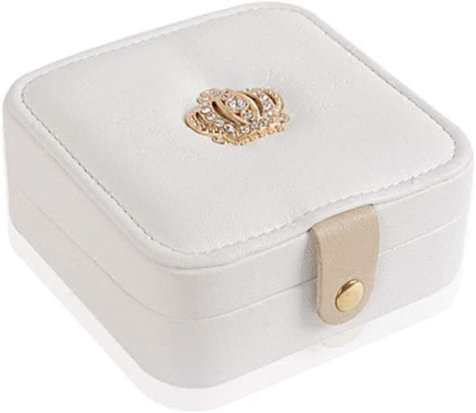 Long-awaited Tucson Mall Jewelry Box Storage Earring Jewelr Ring Portable Leather