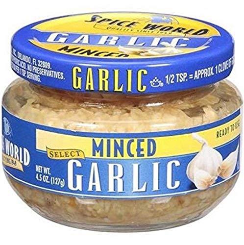 Spice World, Minced Garlic, 4.5 Oz