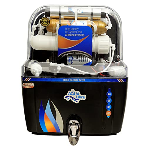 AQUA LIBRA WITH DEVICE Water Purifier FOR RO+UV+UF+ACTIVE COPPER Water Filter for Home For Kitchen