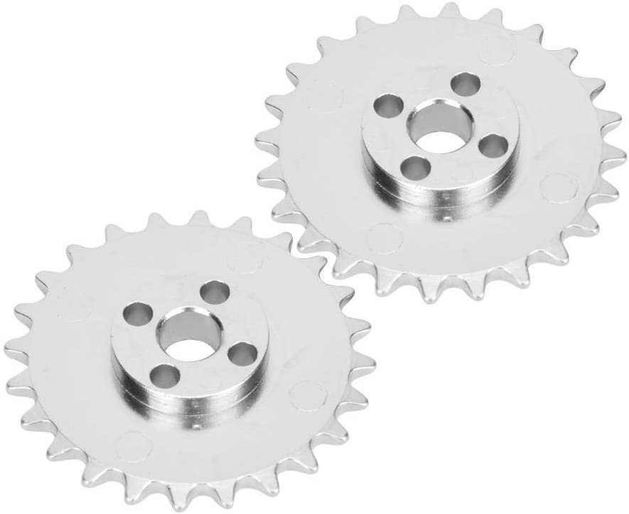 Free shipping anywhere in the nation Max 86% OFF 2Pcs Chain Sprocket Industrial 24-Tooth Gear Alloy 5 Zinc