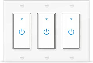 Smart Switch Alexa Wifi Light Switch 3 Gang