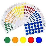 HQdeal 2cm Pegatinas Redondas Colores, 30 Hojas Etiquetas Adhesivo, 6 Colores Pegatinas Círculo Etiquetas Autoadhesivo para Oficina, 720pcs