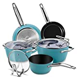 CUSIBOX Cookware Set Ceramic Nonstick Pan & Pot Set 8 Piece, Stock Pot