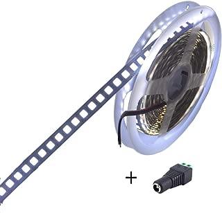 JOYLIT DC12V LED Strip Light 600 Units SMD5054 LEDs Flexible Cool White 6000-6500K LED Tape Lights No-Waterproof LED Light Pack of 16.4ft/5M