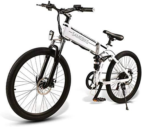 Bicicleta Eléctrica Plegable Bicicleta eléctrica de nieve, Ebike 26 '' Bicicleta de montaña eléctrica para adultos 350W 48V 10Ah batería de litio de litio de litio Suspensión completa y 21 velocidades