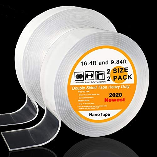 2 Pack Double Sided Tape Heavy Duty Premium Nano Tape Multipurpose Removable Double Stick Tape product image