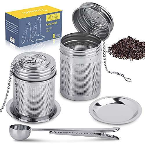 2 Pack Stainless Steel 18/8 Tea Ball Infuser & Cooking Infuser, Loose...