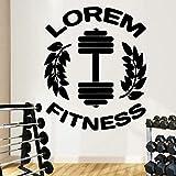 Etiqueta engomada de la pared de la pared del restaurante de la cocina del papel del logotipo del gimnasio