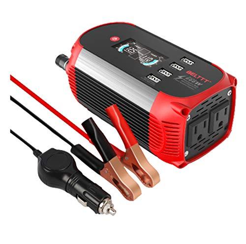 300W Pure Sine Wave Inverter Power Power Inverter 600W Convertidor de energía Control Remoto inalámbrico y Ventiladores de enfriamiento UK Standard-300W