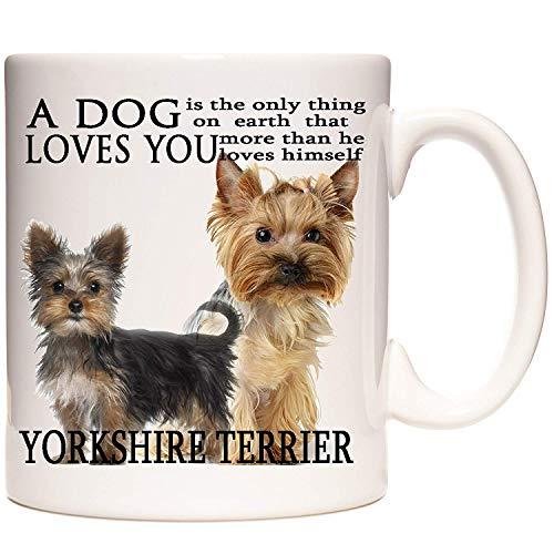 Taza de regalo de Yorkshire Terrier, con texto en inglés