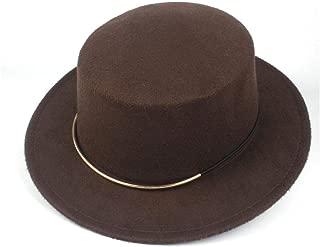 Hat Size 56-58CM Men Women Flat Top Feodra Hat Winter Outdoor Casual Hat Dance Party Hat For Elegant Lady Fascinator Fashion Hat