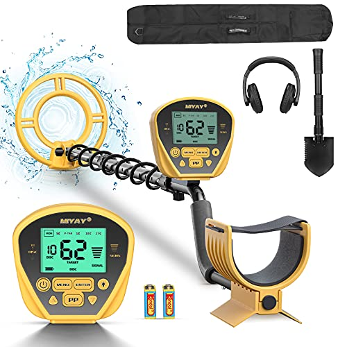 """Metal Detector, Lightweight Adjustable Metal Detectors for Adults & Kids, High Accuracy with Pinpoint & Disc & Notch & All Metal 5 Modes, 10"""" Search Coil Waterproof, Great for Treasure Hunting"""