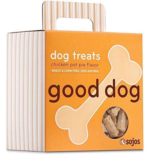 Sojos Natural Pet Food Good Dog Crunchy Natural Dog Treats Chicken Pot Pie Flavor 8 oz