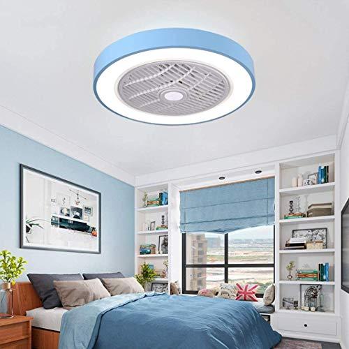 Geng Deckenventilator Mit Licht Und Fernbedienung, Ventilator Deckenleuchte Nordic Haus Schlafzimmer Gastronomie Invisible Deckenventilator Licht (Color : G-Blue)