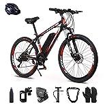 Bicicleta eléctrica, 350W Bicicleta Eléctrica de Montaña Ciclomotor 26' Ebike para Adulto, Retirable Batería de Litio-Ion, 7 Velocidades, 3 Modos de Arranque