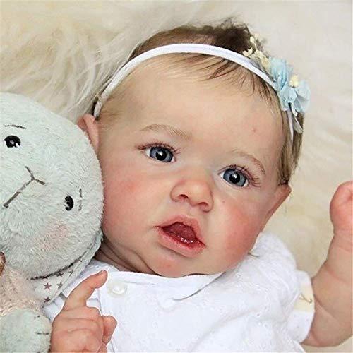 ZHANGYY 50 cm Reborn Baby Dolls Neugeborene Puppe e Baby Schöne echte lebensechte realistisch aussehende wiedergeborene Baby Soft Vinyl Silikon Baby Neugeborene Puppen