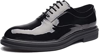 Sygjal Men's Business Oxford Casual Fashion British Style Comfortable Pointed Low Top Formal Shoes (Color : Black, Size : 42 EU)