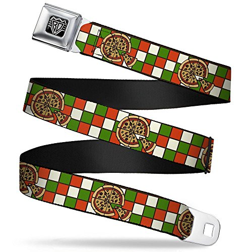 Buckle-Down Seatbelt Belt - Pizza Pies - 1.5' Wide - 32-52 Inches in Length