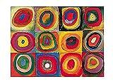 Kunstdruck/Poster: Wassily Kandinsky Farbstudie Quadrate -