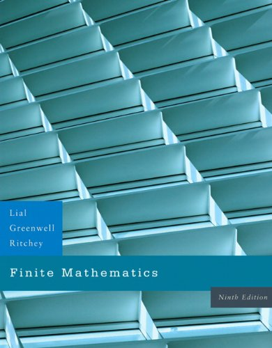 Compare Textbook Prices for Finite Mathematics 9 Edition ISBN 9780321428295 by Lial, Margaret L.,Greenwell, Raymond N.,Ritchey, Nathan P.