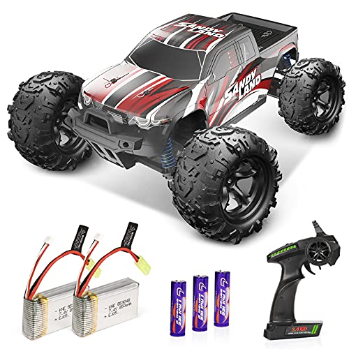 RC Cars, High Speed Remote Control Car, All Terrain Electric Remote Control Off Road Monster Truck, 1:18 Scale 2.4Ghz Radio 4WD Fast 30+ MPH RC Car, with 2 Rechargeable Batteries, Gift for Boys Adults