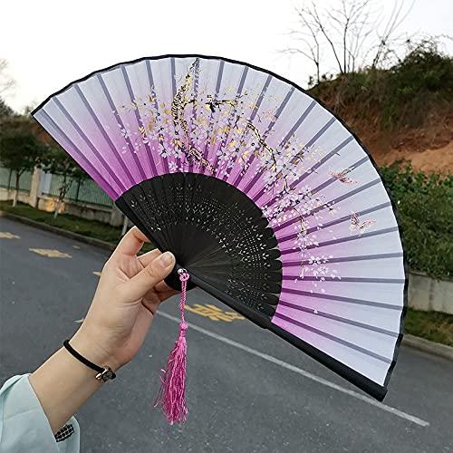 Abanicos De Mano Plegables De Bambú Abanicos Japoneses Chin
