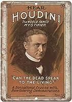 Houdini World Famous Mystifier 金属板ブリキ看板警告サイン注意サイン表示パネル情報サイン金属安全サイン