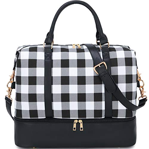 BLUBOON Weekender Overnight Bag with Shoe...