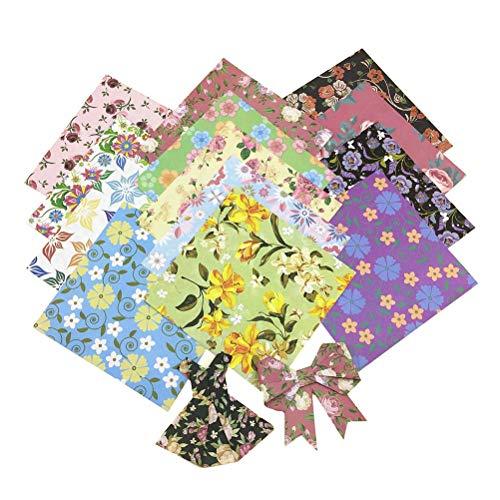 SUPVOX 60Piezas De Origami Doble Cara De Flores De Papel Papiroflexia Colorido Para...