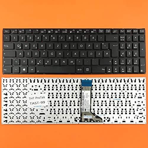 DEUTSCHE - Tastatur Keyboard Ohne Rahmen kompatibel kompatibel für Asus F555L, F555UB