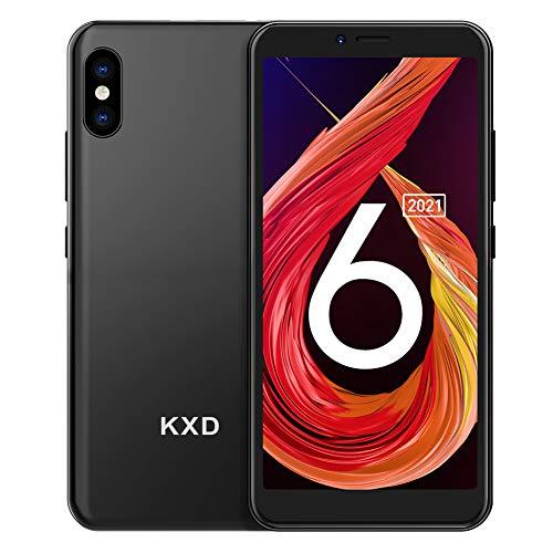 Smartphone Offerta del Giorno, KXD 6A 5.5 IPS FHD-Display, 8G ROM 64GB Espandibili Cellulare, Smartphone Android Cellulare Dual SIM Economici Telefoni Mobile 2500mAh Batteria Cellulari Offerte - Nero