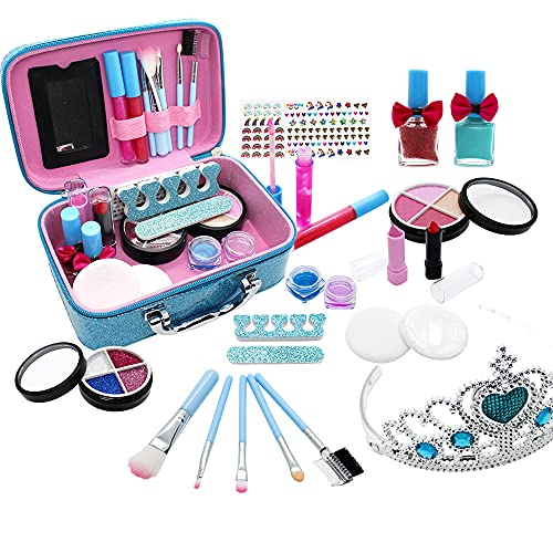Niñas Princesa Maquillaje Juego de Roles Juguete de simulación Lavable Kit cosmético Falso Juguetes para niños Regalo de Belleza