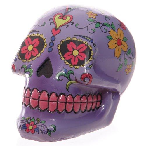 Puckator SK136 - Hucha diseño de Calavera del Día de los Muertos Mexicanos Color Morado