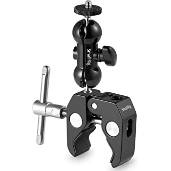 SMALLRIG Cool Ballhead Arm Super Clamp Mount Multi-Function Double Ball Adapter with Bottom Clamp for Ronin-M, Ronin MX, Freefly MOVI - 1138
