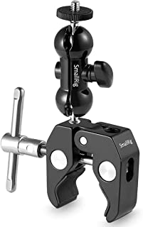 SMALLRIG Cool Ballhead Arm Super Clamp Mount Multi-Function Double Ball Adapter with..