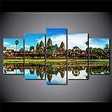 45Tdfc 5 StüCk KreativitäT Kunst Poster Angkor Wat Tempel