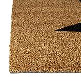 Relaxdays Fußmatte Kokos STERN 40 x 60 cm Kokosmatte mit rutschfester PVC Unterlage Fußabtreter aus Kokosfaser als Schmutzfangmatte und Sauberlaufmatte Fußabstreifer für Außen und Innen Matte, braun - 2