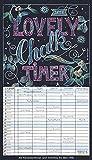 Lovely Chalk Timer 2020: Familienplaner mit 5 breiten Spalten. Typo-Art Familienkalender mit Ferienterminen, Zusatzspalte, Vorschau und vielem mehr. - Korsch Verlag