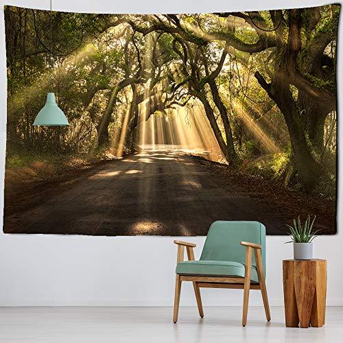 KHKJ Árbol de los Deseos Tapiz de impresión 3D Colgante de Pared decoración psicodélica Manta de Pared sábana decoración Bohemia Tapiz A1 200x180cm