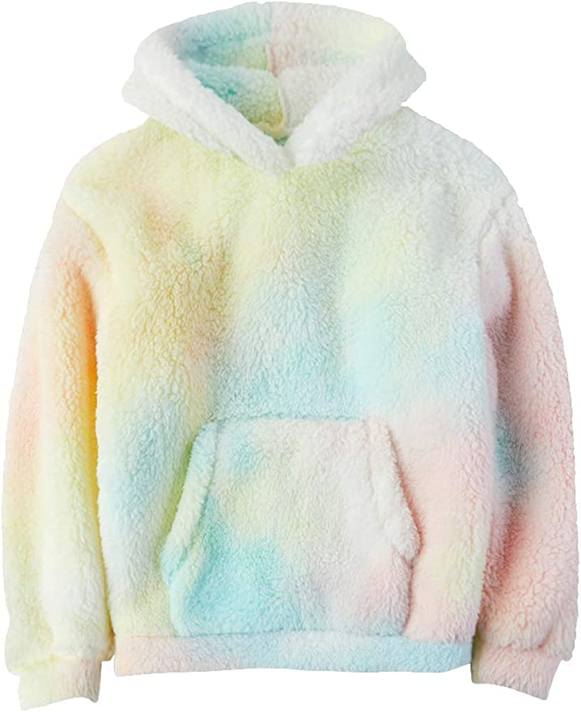 Makkrom Toddler Boys Girls Sherpa Hoodies Fleece Hoodie Pullover Outfits for Kids