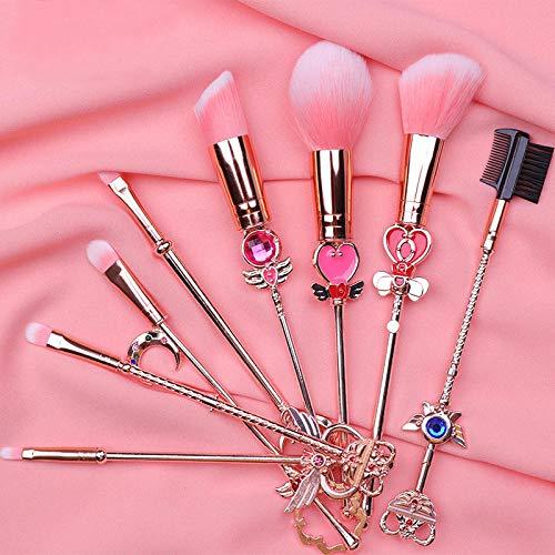 MPKHNM Girls Sakura Complete Eyeshadow Brush Cute Beauty Tools Makeup Makeup Brush Set 8